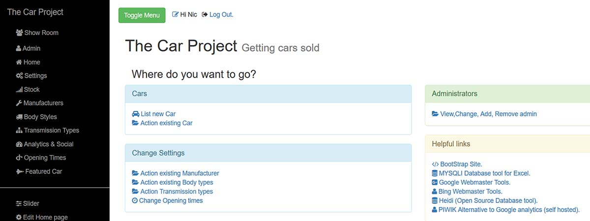 TheCarProject Slide 6